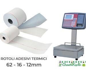 Rotoli adesivi termici per bilancia 62x16x12 Cf.10