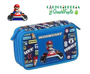 Super-Mario-Kart-Astuccio-Portacolori-3-Zip-Scuola