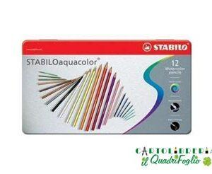 Matite acquerellabili Stabilo Aquacolor Cf.12