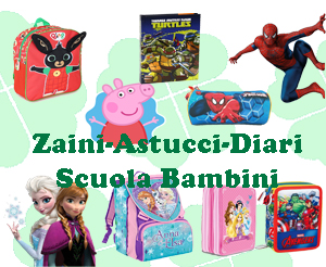 Zaini-Astucci-Diari Scuola Bambini