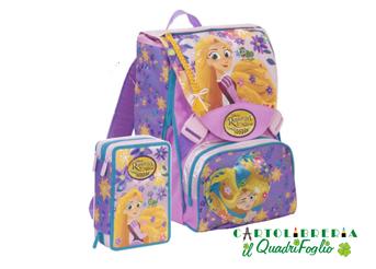Zaino Estensibile e Astuccio 3 zip Seven Principessa Rapunzel